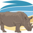 Stock Vector: Rhino Illustration