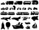 Cute Transportation Icons — Stok Vektör