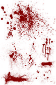 Bloodstain Set — Stock Vector