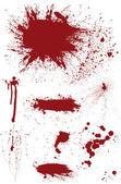 Bloodstain Set — Stock Vector