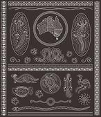 Aboriginal Design Elements — Stock Vector