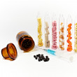 Stock Photo: Drugs, tubes and injection