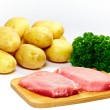 Stock Photo: Fresh pork steak