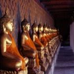 Ancient buddha images. Wat Arun temple. Bangkok. Thailand. — Stock Photo #14794001