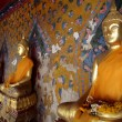 Ancient buddha images. Wat Arun temple. Bangkok. Thailand. - Stock Photo