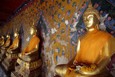 Ancient buddha images. Wat Arun temple. Bangkok. Thailand. — Stock Photo