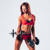 Donna fitness — Foto Stock