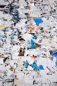 Torn hoarding — Stock Photo