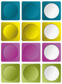 Buttons set — Stock Vector