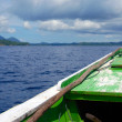 Indonesian boat between islands — Stock Photo