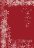 Magic christmas red background — Stock Photo