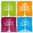 Four color seasons — Stock Vector