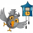 Cuckoo clock — Stock Vector