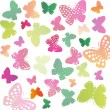 Stock Vector: Background of butterflies