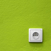 Green power socket — Stock Photo
