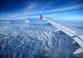 View from the airplane window — Stock Photo