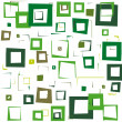 Green squares — Stock Vector