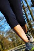Legs runners — Stock Photo