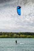 Kite on the lake — Stock Photo