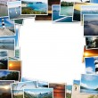 Stock Photo: Frame of travel photos