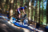 Rider on a mountain bike — Stock Photo