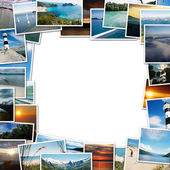 Frame of travel photos — Stock Photo