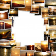 Stock Photo: Frame of photos of sunset