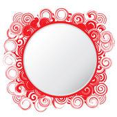Circular spiral frame — Stock Vector