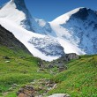 High snowy mountains — Stock Photo