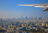 View from the plane to Dubai — Stock Photo