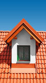 Roof with clay tiles — Stock Photo