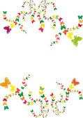 Butterflies in spirals — Stock Vector
