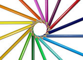 Lápices de colores redondos — Foto de Stock