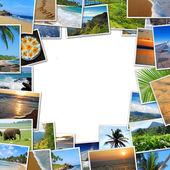 Frame of travel photos — Stock Photo
