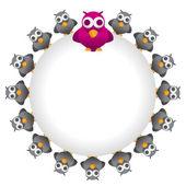 Cuckoo birds in the ring — Stock Vector