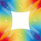 Rainbow color ornament — Stock Vector
