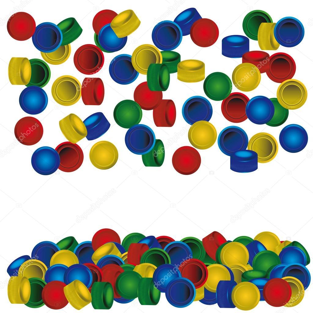 Fondo de las tapas de pl stico vector de stock for Tapas de plastico