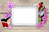 Frame of wedding photos  — Stock Photo