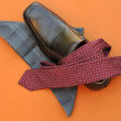Dressed for Success: Tie, Shoe and Handkerchief — Stock Photo