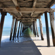 Underneath the Grange Jetty in sunny South Australia - Stock Photo