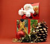 Vintage Santa Christmas Jack in the Box Ornament — Stock Photo
