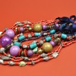 Bright Color Ladies Jewelry Necklace Accessories - Stock Photo
