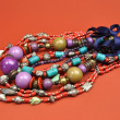 Bright Color Ladies Jewelry Necklace Accessories — Stock Photo