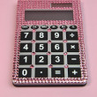 Pink Bling Feminine Calculator — 图库照片