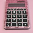 Pink Bling Feminine Calculator - Stok fotoğraf