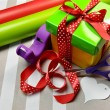 Colorful Gift Wrapping - Stock Photo