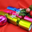 Bright Color Christmas Holiday Bon Bon Crackers. — Stock Photo