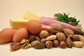 Healthy Food - Sources of Protein — Stock Photo