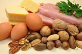 Healthy Food - Sources of Protein. — Stock Photo