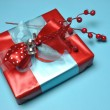 Stock Photo: Blue theme bright color festive present.